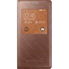 Samsung puzdro knižka G800 Galaxy S5 mini EF-CG800BF s-view ružovo-zla