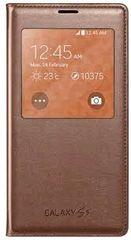 Samsung puzdro knižka G900 Galaxy S5 EF-CG90 s-view ružovo-zlaté