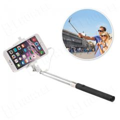 Selfie tyč káblový biely HT