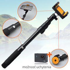 Selfie tyč 3,5mm L-188 Plus čierna