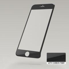 Sklenená fólia Apple iPhone 6/6S Sturdo 3D Fiber čierna karbon