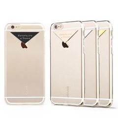 Usams puzdro plastové Apple iPhone 6/6S Dazzle strieborné