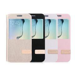 Usams puzdro knižka Samsung G935 Galaxy S7 Edge Plus ružové