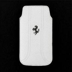 Ferrari puzdro vsuvka Apple iPhone 5/5C/5S/SE biele