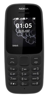Nokia 105 2017 DUAL čierny