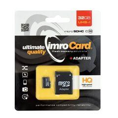 Pamäťová karta 32GB Imro microSDHC class 10 s adaptérom