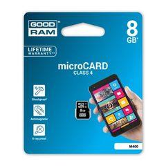Pamäťová karta 8GB Goodram microSDHC class 4 bez adaptéra PT