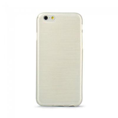 Puzdro gumené Apple iPhone 4/4S Jelly Case Brush biele PT