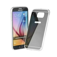 Puzdro gumené Samsung G935 Galaxy S7 Edge zrkadlo sivé PT