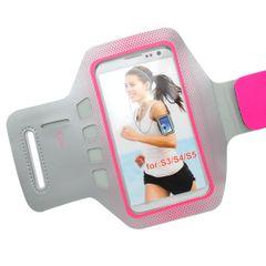 Puzdro športové Samsung G900 Galaxy S5 sivé/ružové