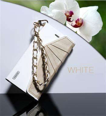 Remax puzdro knižka Apple iPhone 6/6S Bouf Fancy biele